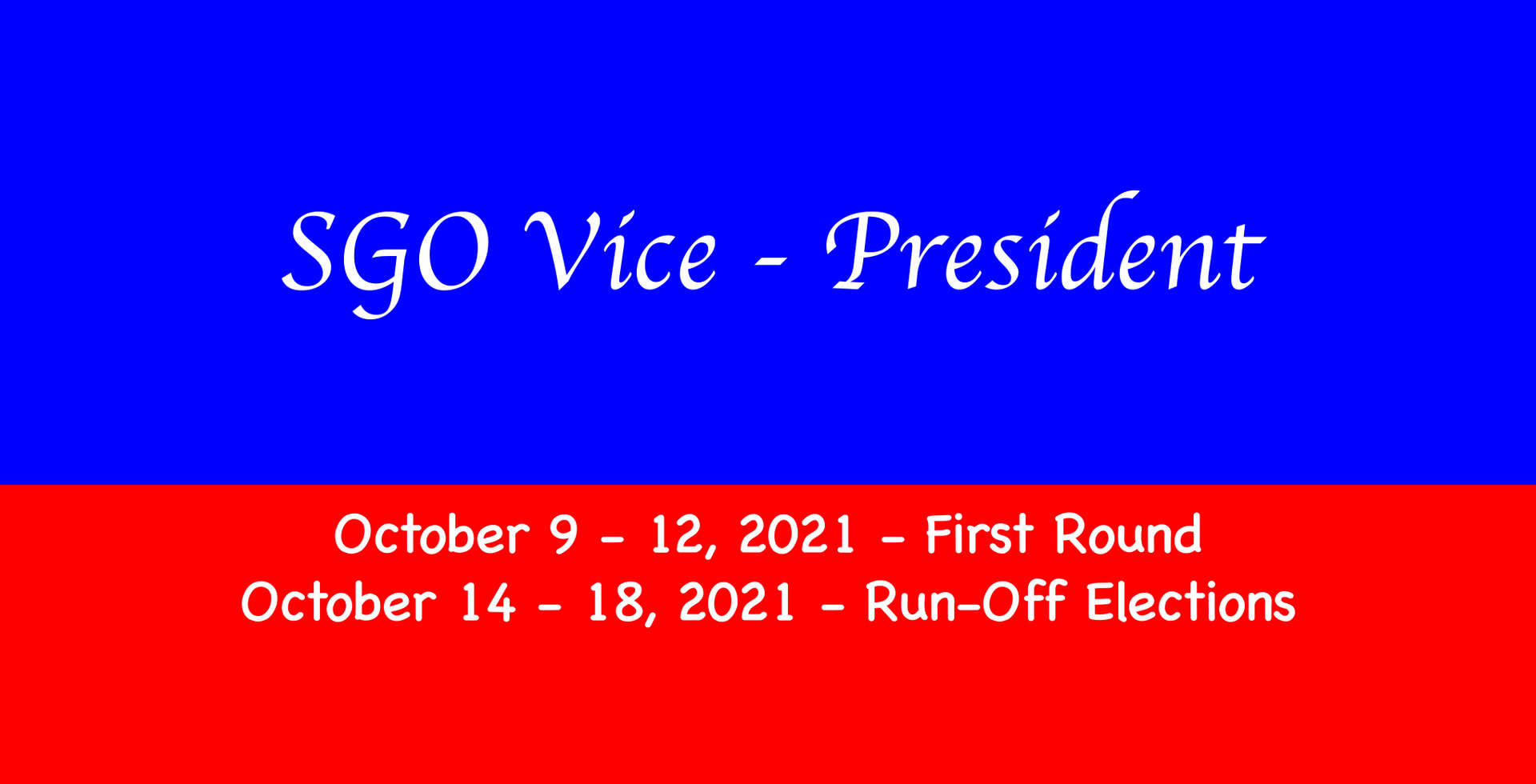 SGO VP Banner with election dates