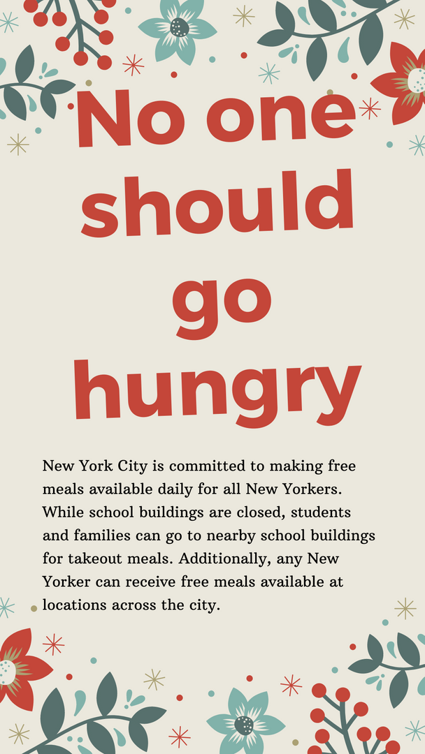 No Student Should Go Hungry Poster