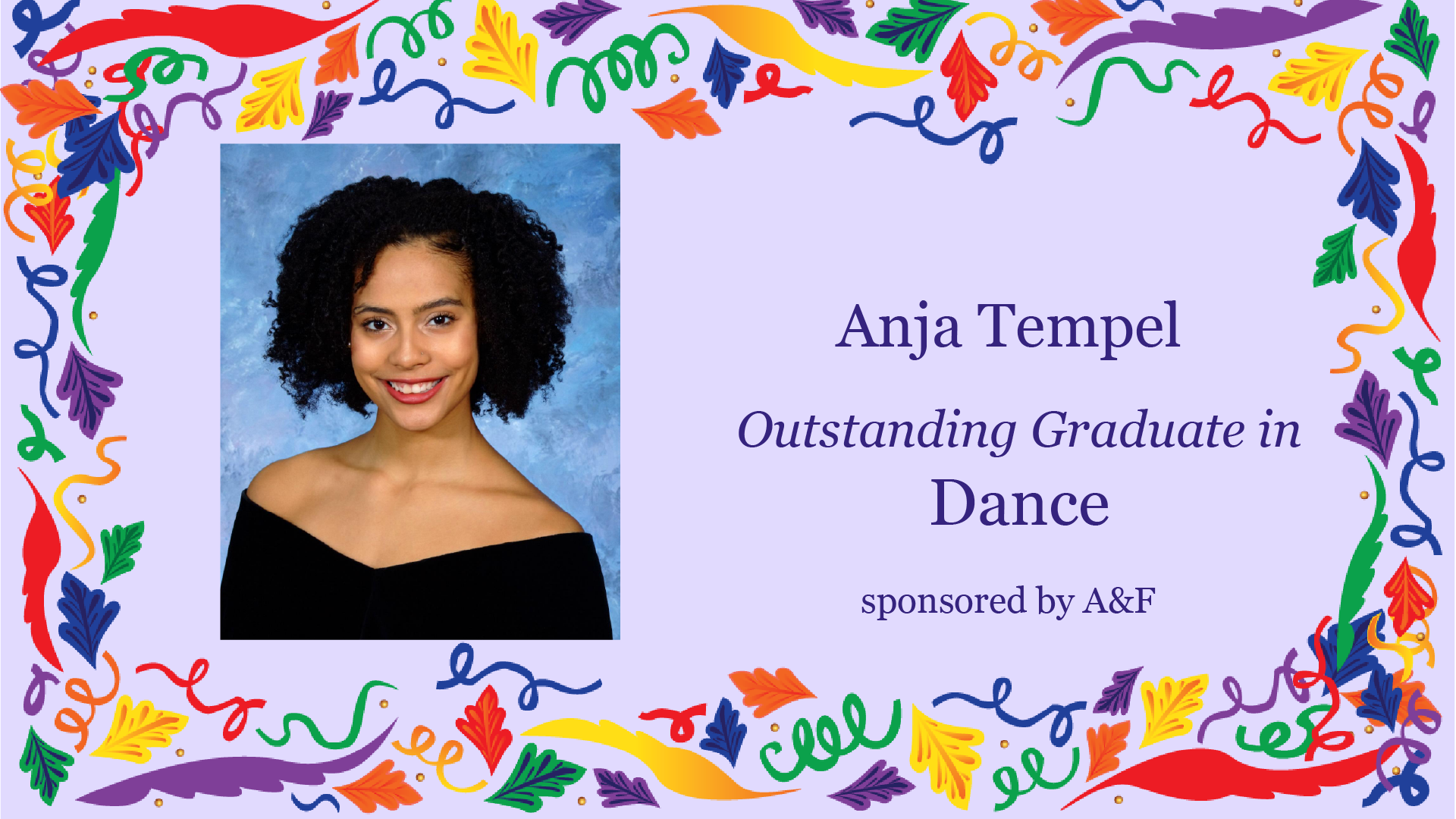 Outstanding Graduate Award in Dance