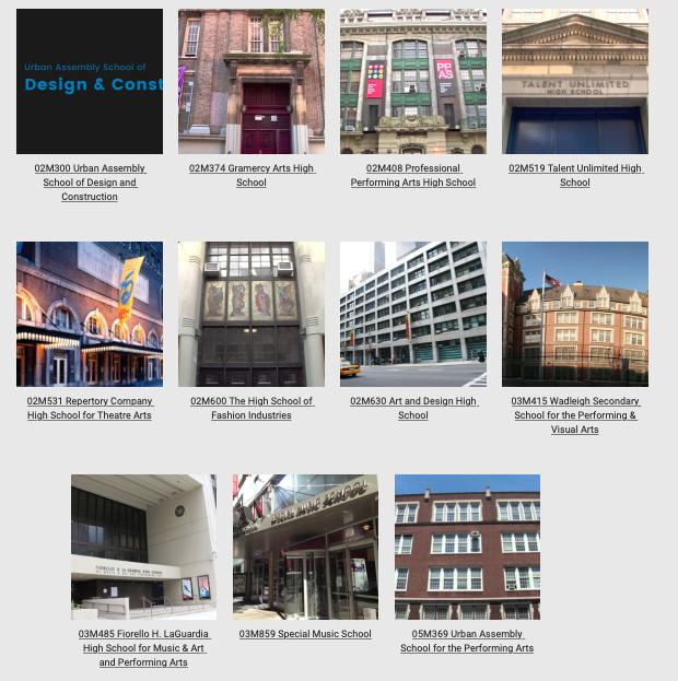 Manhattan Arts Schools Building Facades