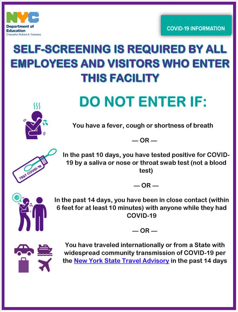 Self Screening Poster