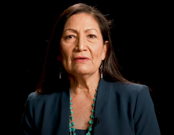 Indigenous American Deb Haaland Secretary of Interior