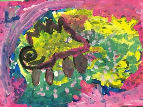 Colorful animal artwork