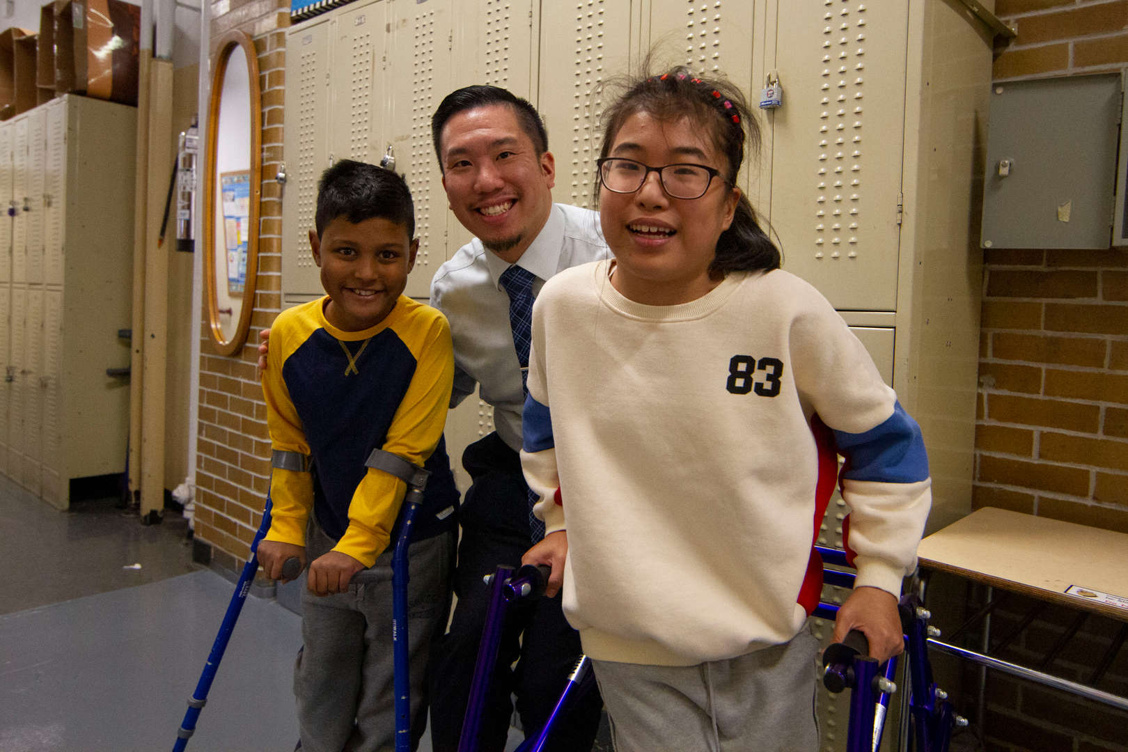 Dr. Wong and two students
