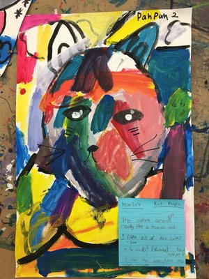 Abstract student art piece