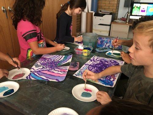 Students Creating Art at PS 10