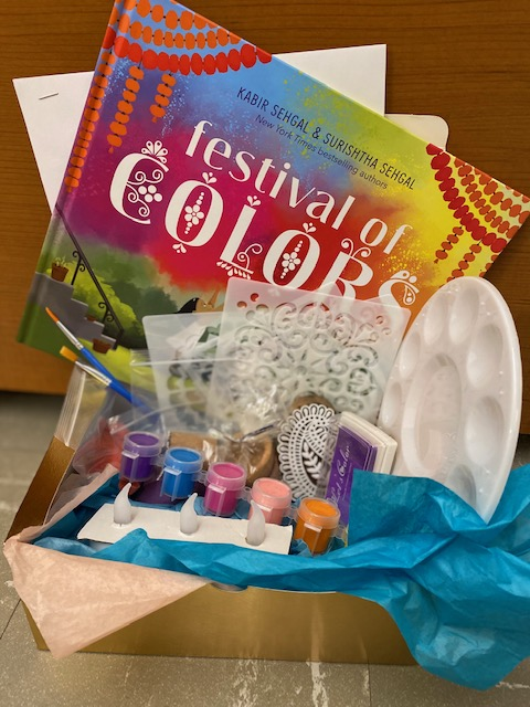 The Festival of Colors Art Kit teaches children about the Indian holiday of Holi and asks children to make their own mandala.