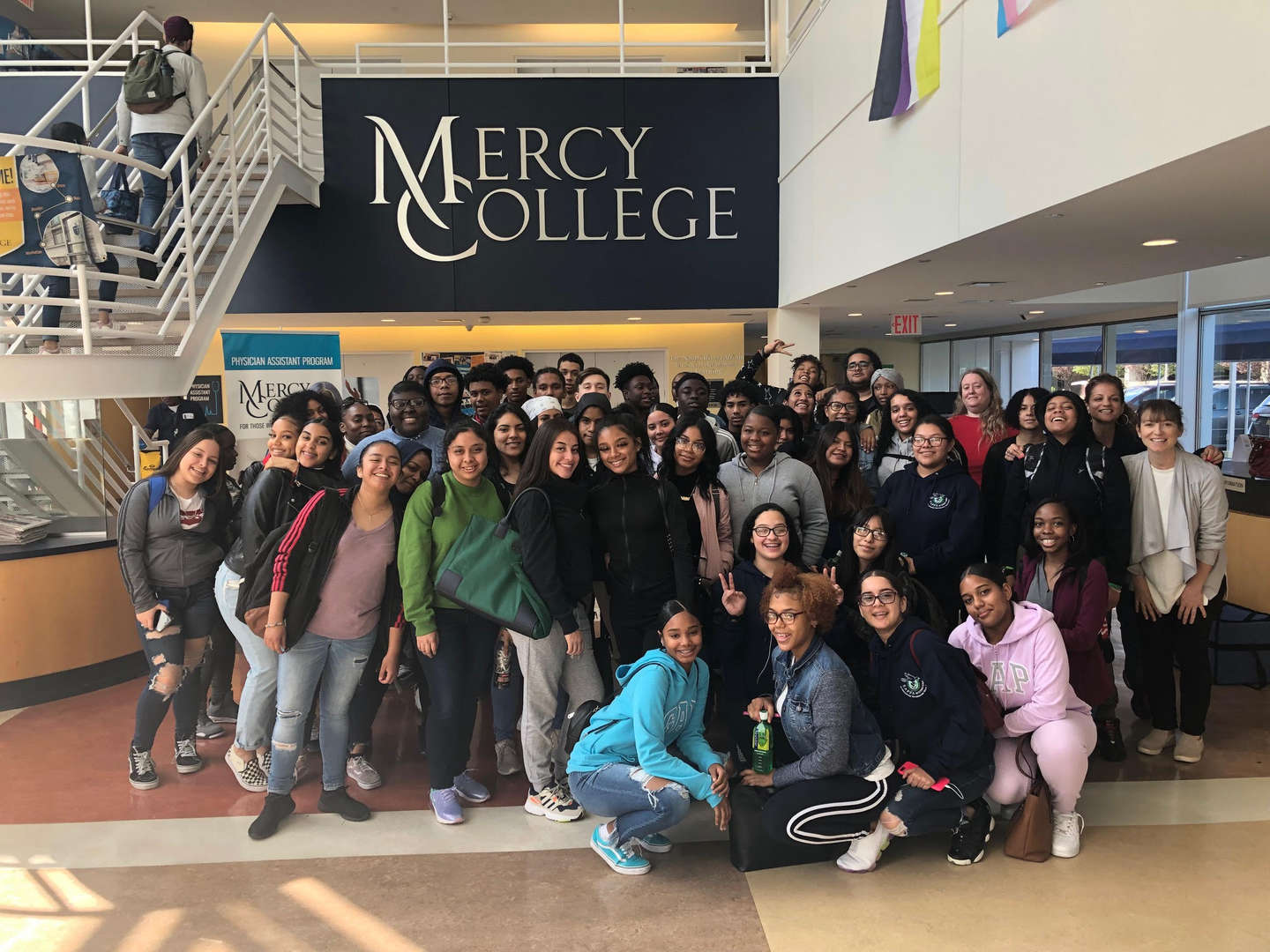 Field trip to Mercy College