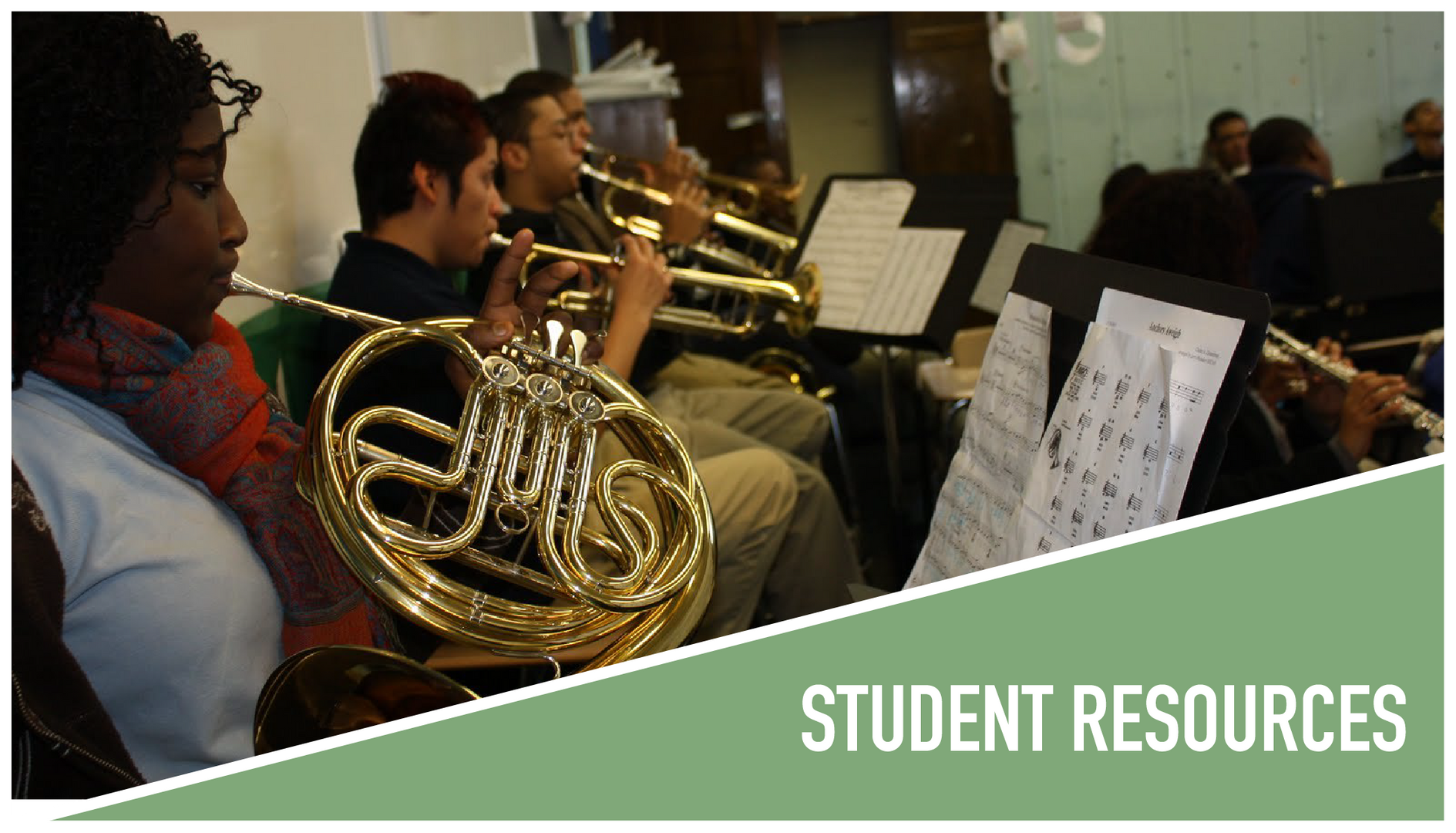 Student Corner: Students playing musical instruments