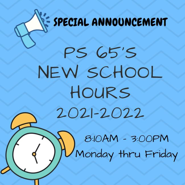 Blue Box with New School Hours 21-22