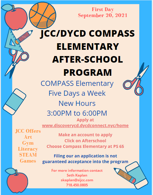 JCC Compass Elementary After School Program Information