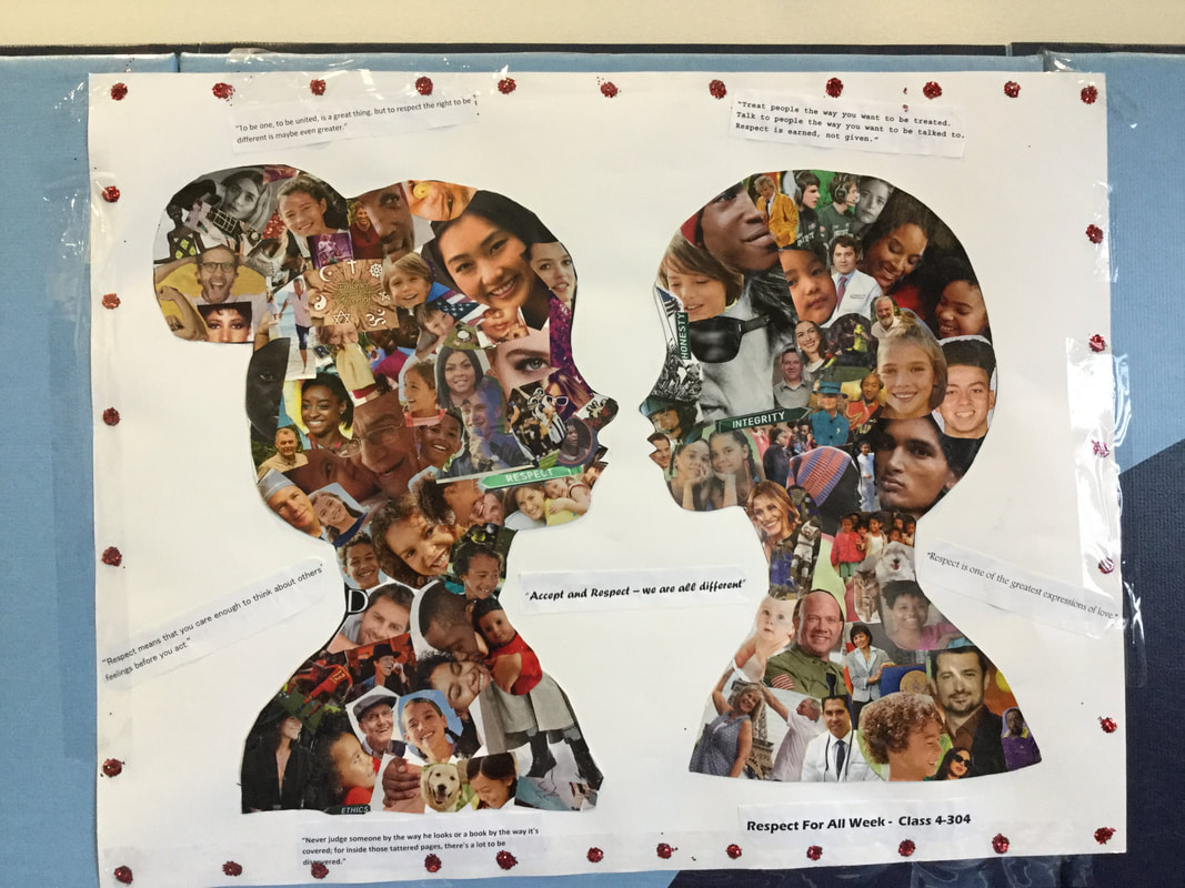 Mosaic of kids faces