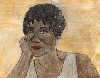 Student Artwork Aretha Franklin