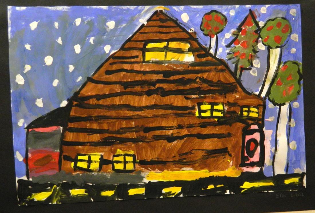 student artwork house