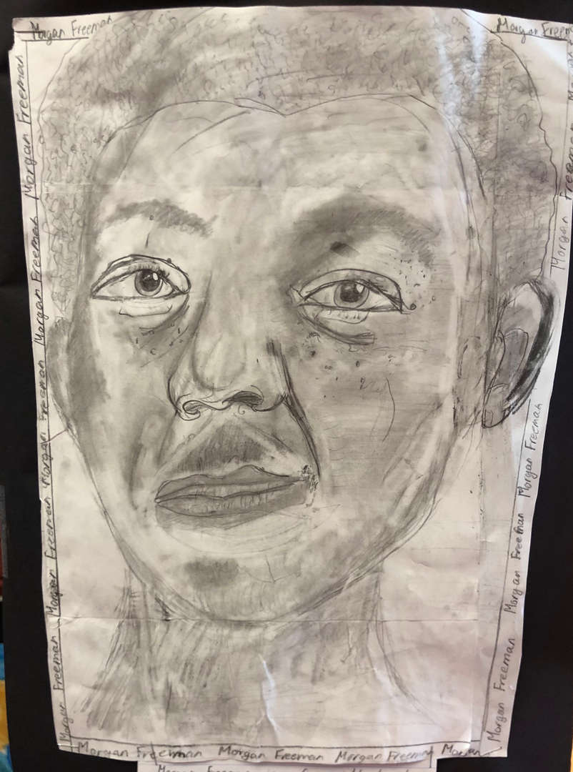 5th grade portrait of Morgan Freeman