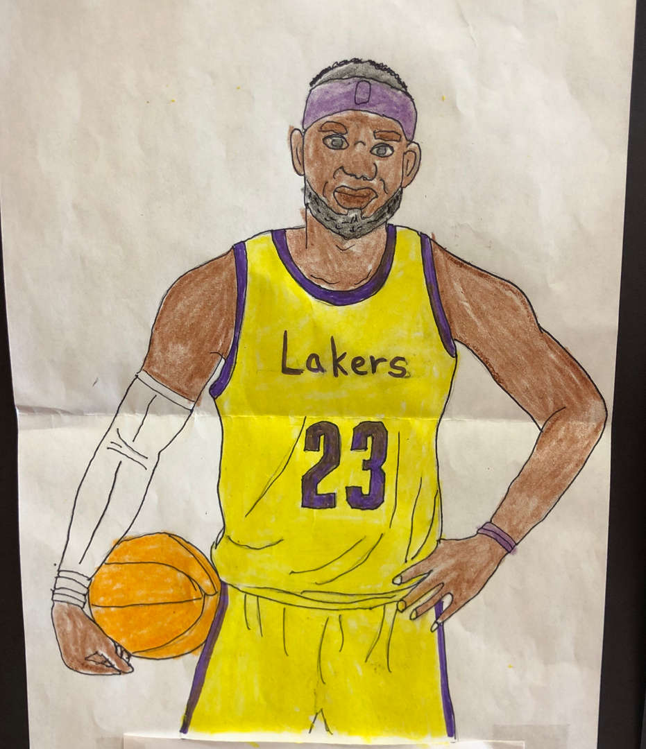 5th grade portrait of LeBron James