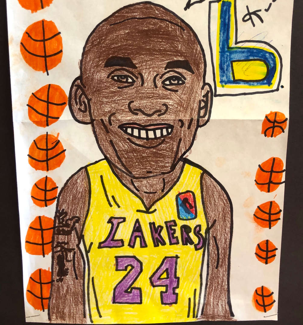 5th grade portrait of Kobe Bryant