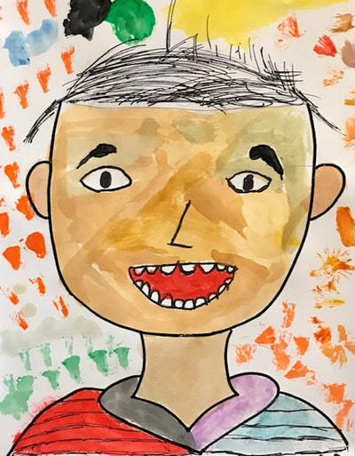 Self portrait of child