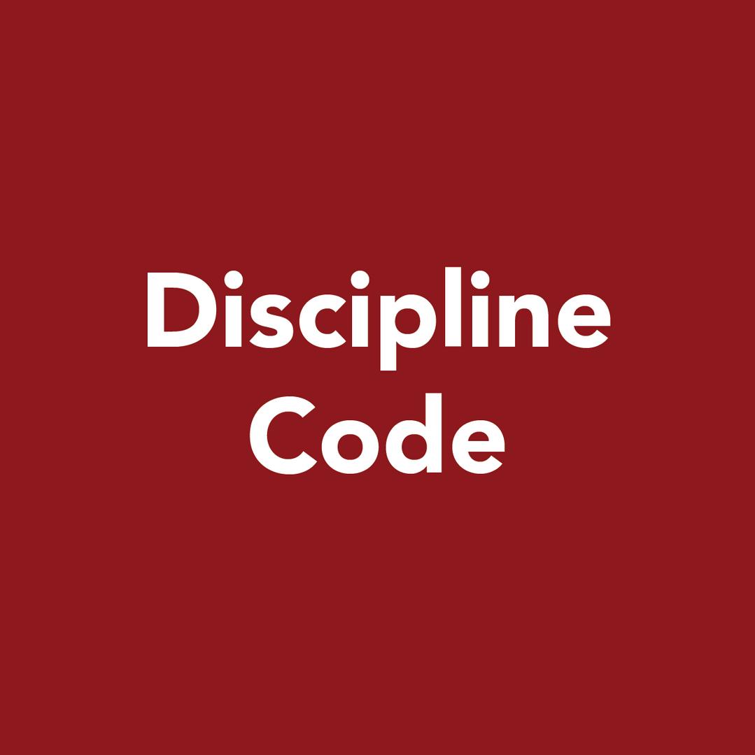 Discipline code