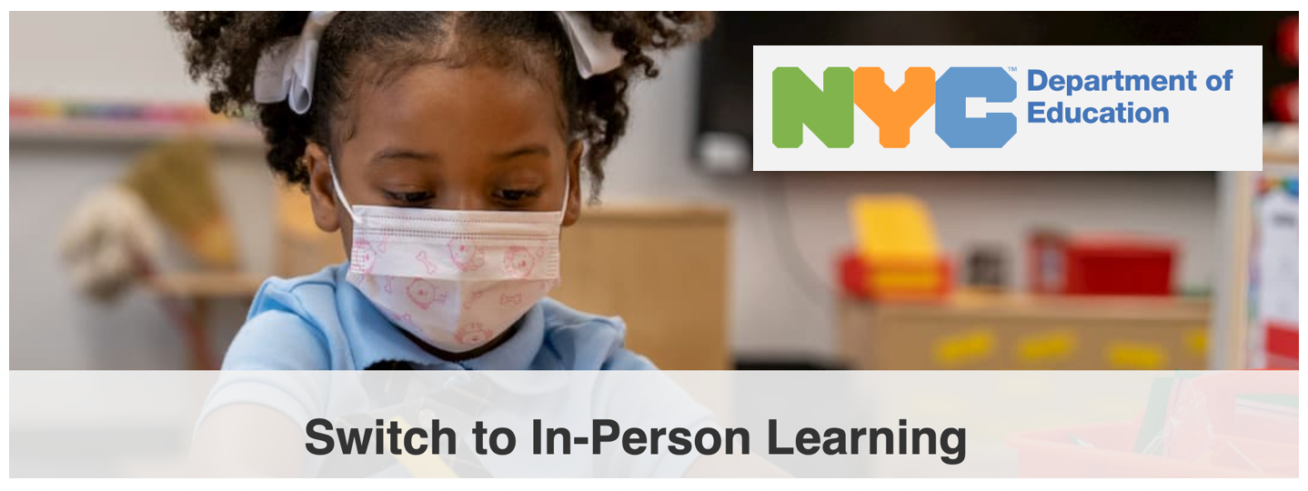 picture of student with NYCDOE logo