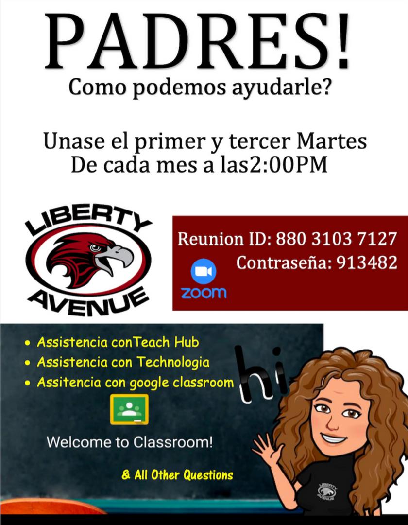 Parent workshop flyer Spanish