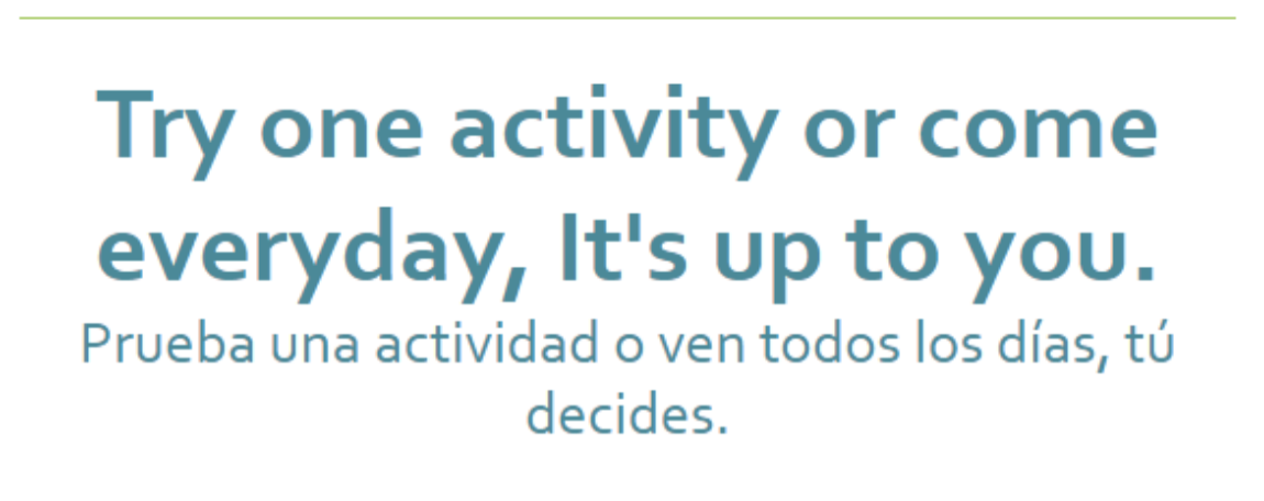 Try an activity