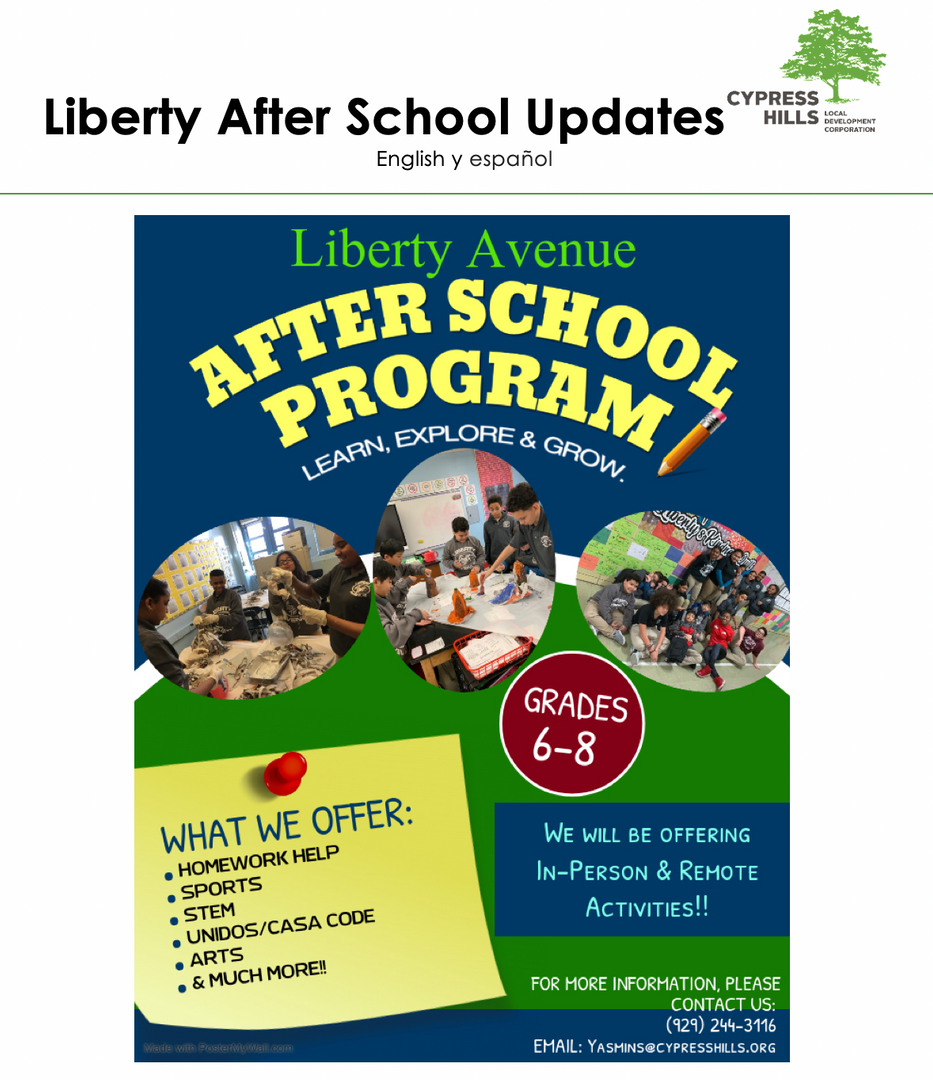 Liberty After School Poster