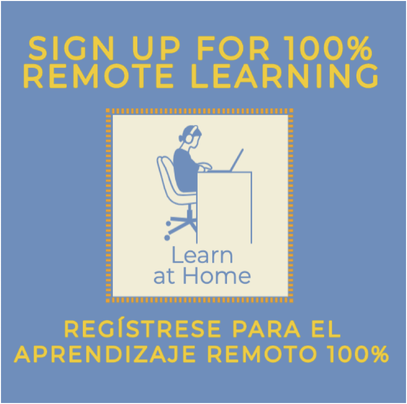 Sign up for 100% remote learning