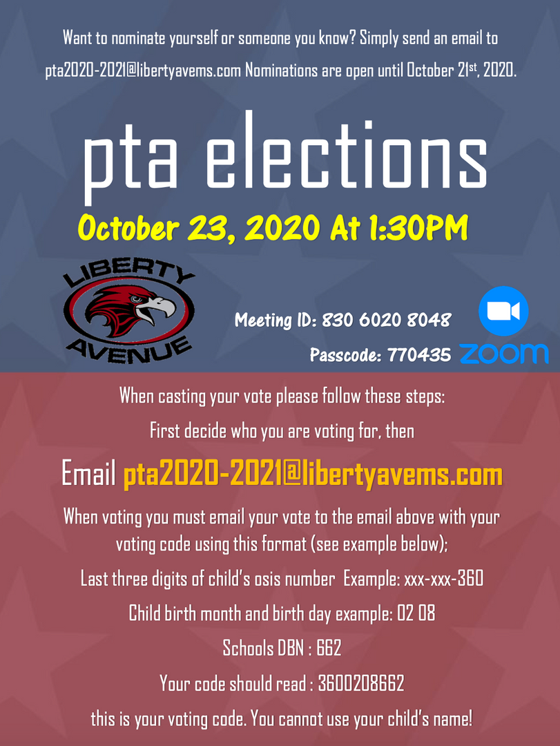 PTA election flyer ENG