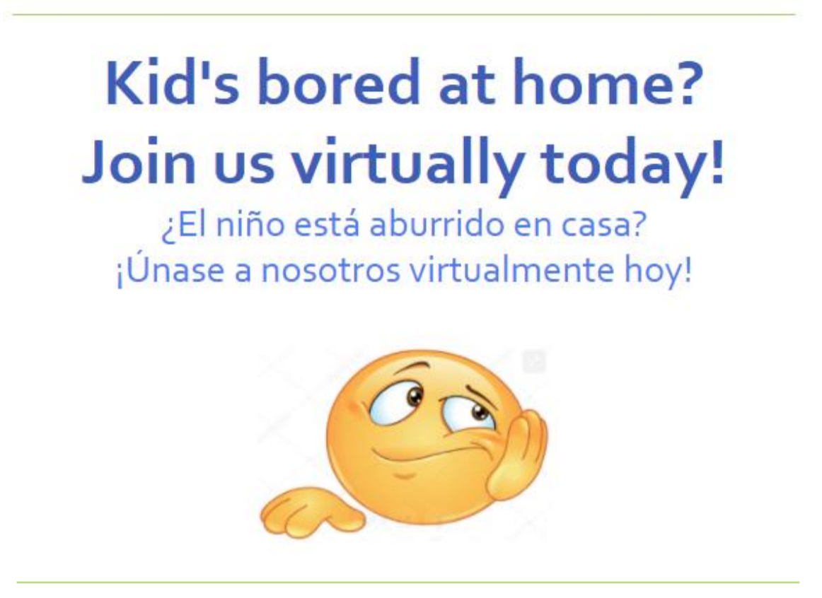 Bored Image - Join Afterschool virtually today!