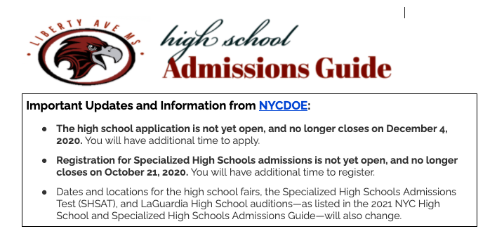 High School Admissions Guide