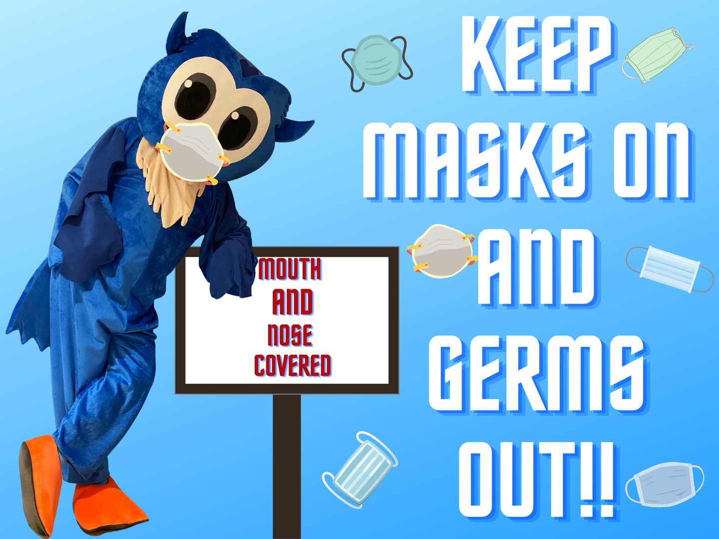 Bbms Owl Mascot with mask