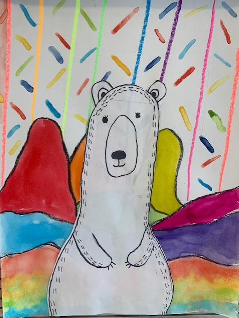 Drawing of a thin Polar Bear