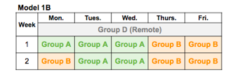 Blended Learning Schedule