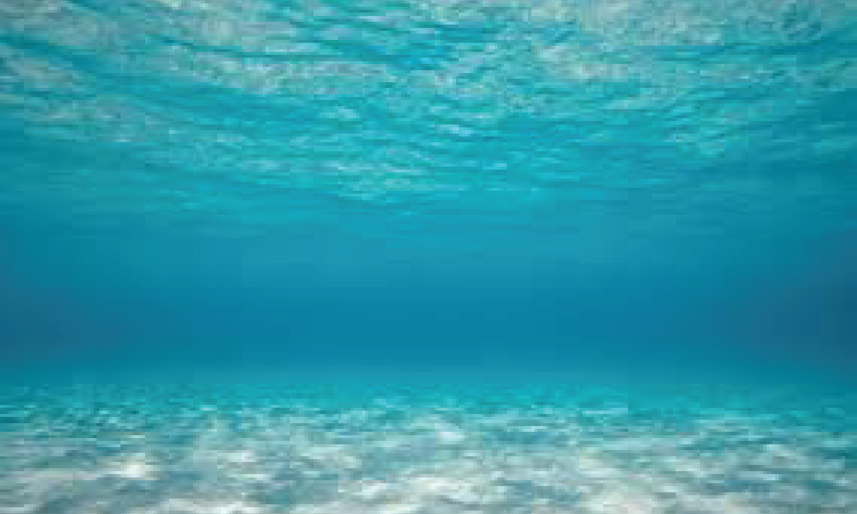 Blue sea underwater