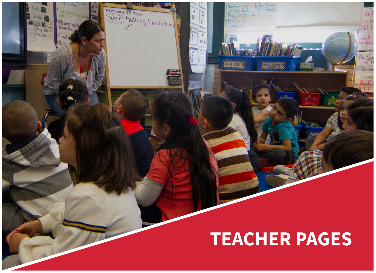Teacher pages: teacher leading class