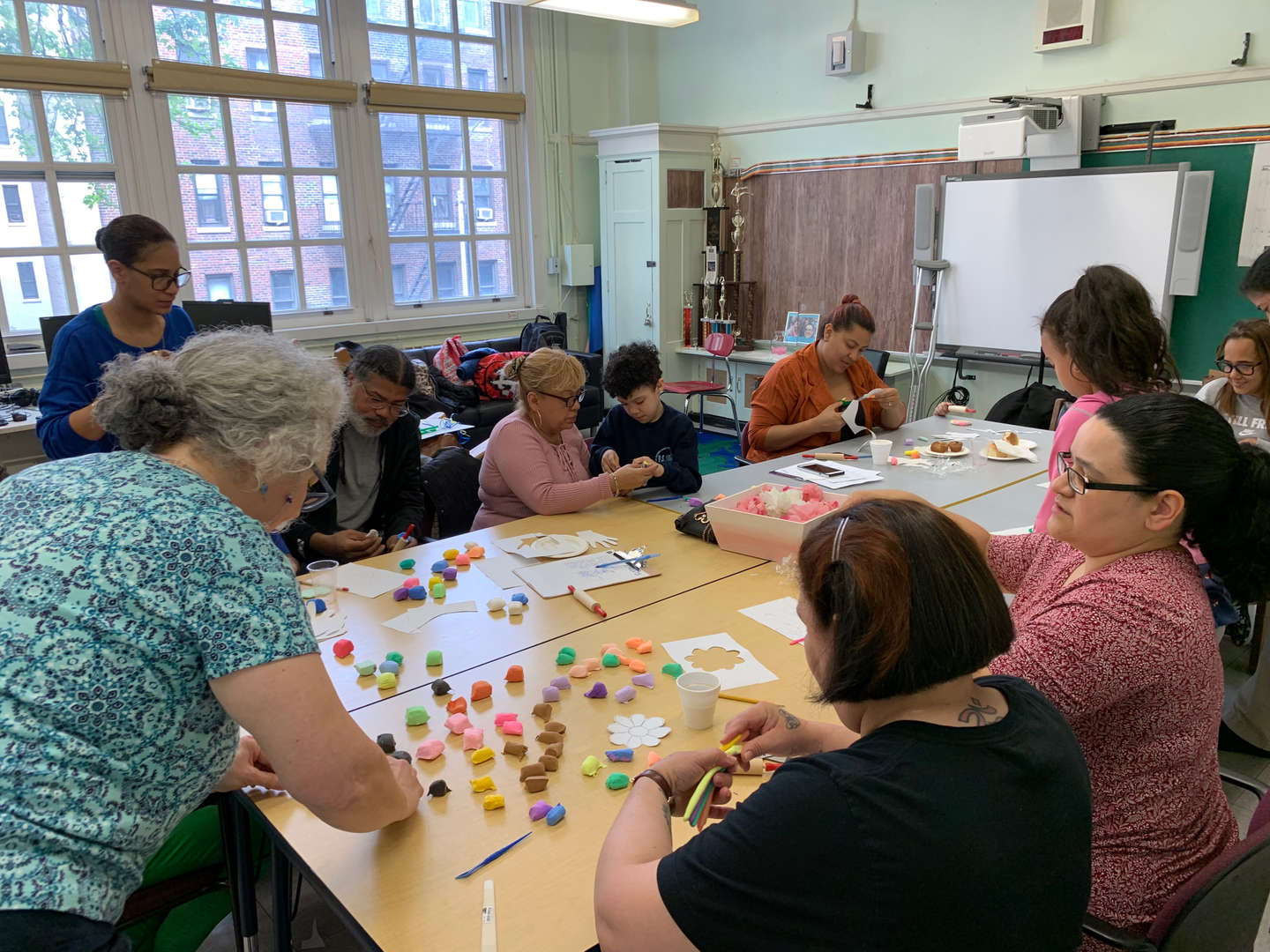 Jewelry-making workshop for parents and students
