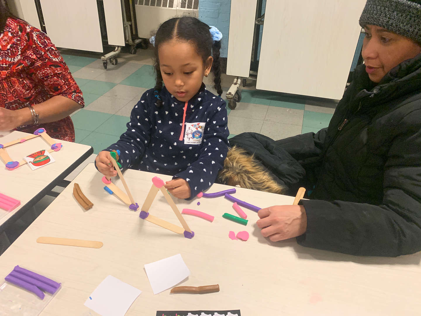 Crafts during STEAM family fun night