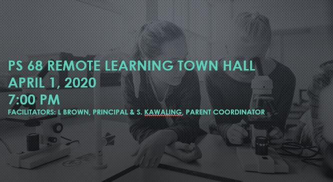 Town Hall #1 April 1, 2020