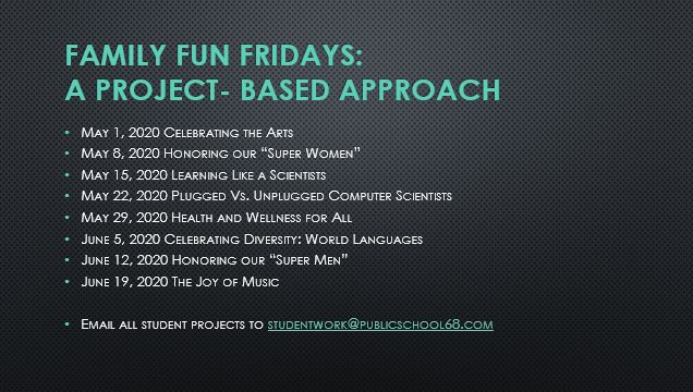 Project Based Learning on Family Fun Fridays