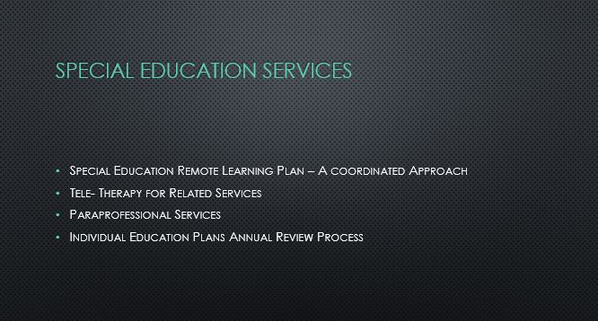 Special Education Remote Learning Plan
