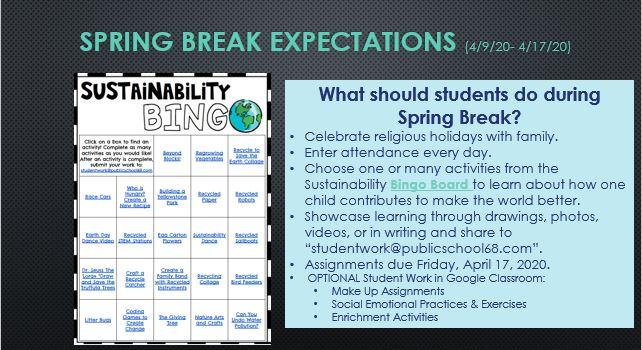 What should students do during Spring Break?