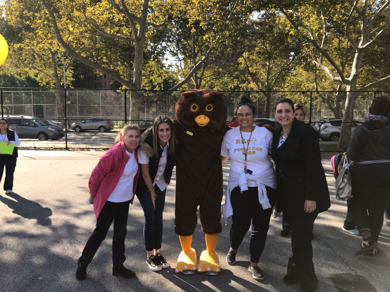 Staff with mascot