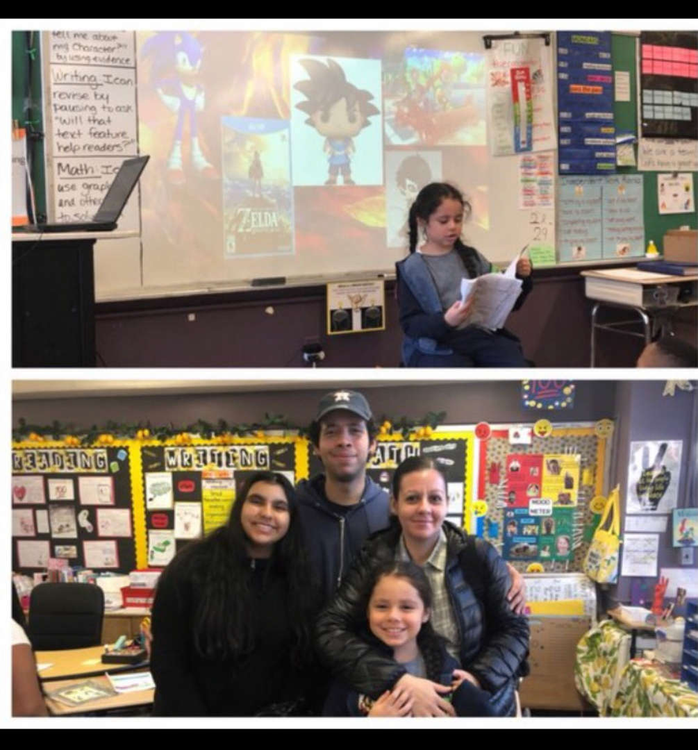 Parents visit classroom