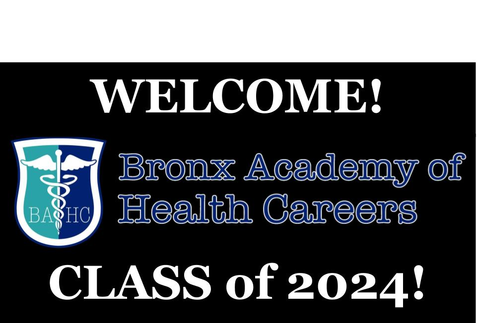 Welcome class of 2024 school logo
