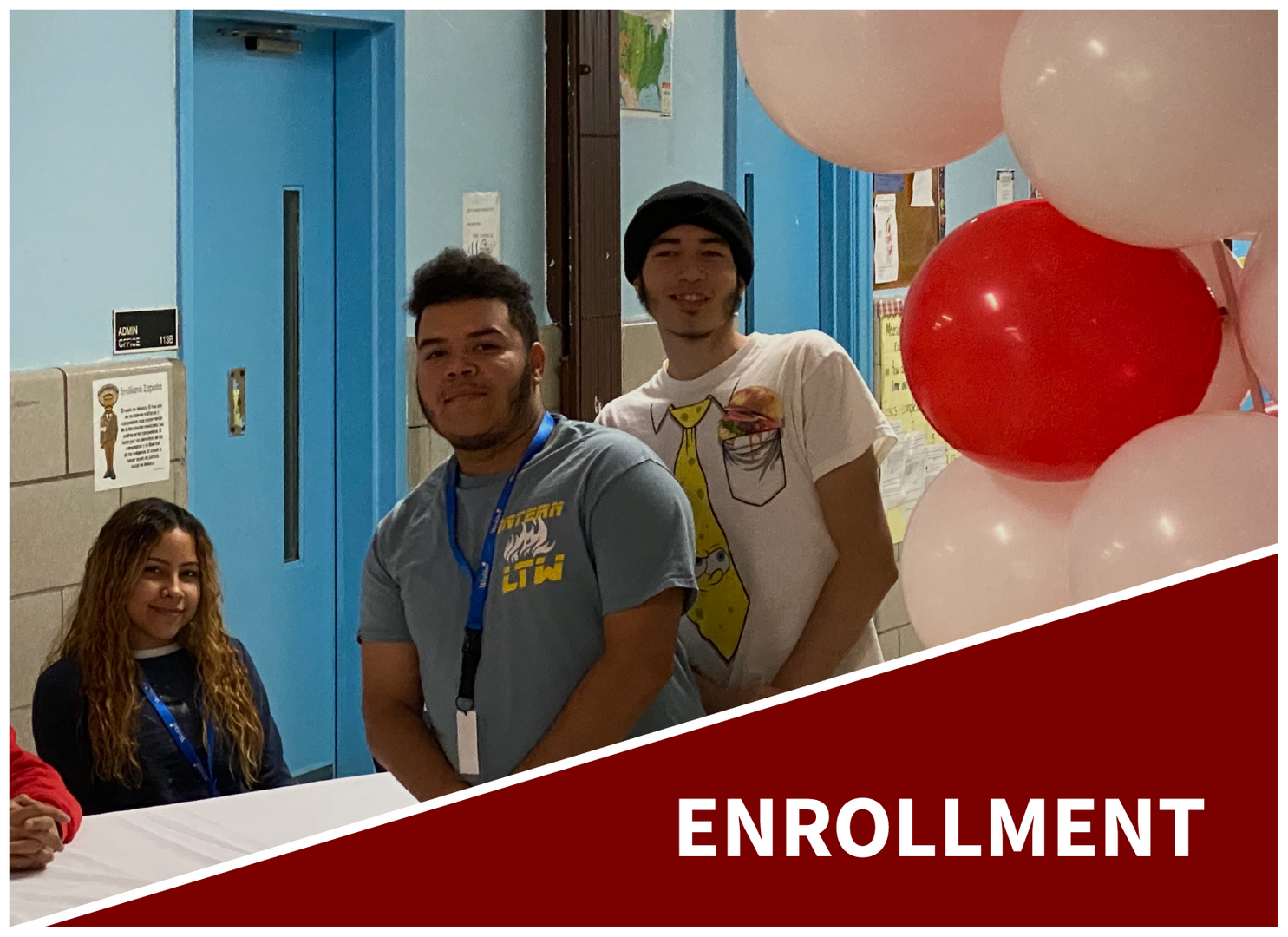 Enrollment: Students welcoming