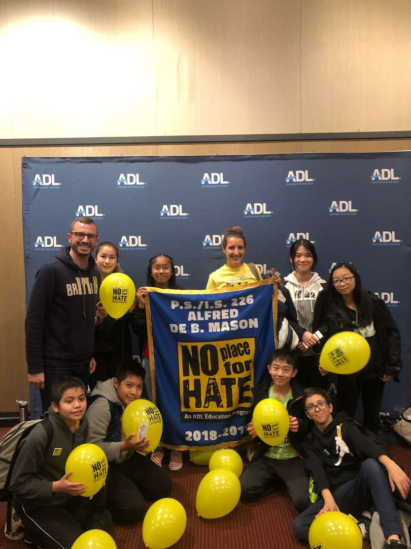 Mr. Kent with members of the No Place for Hate team.