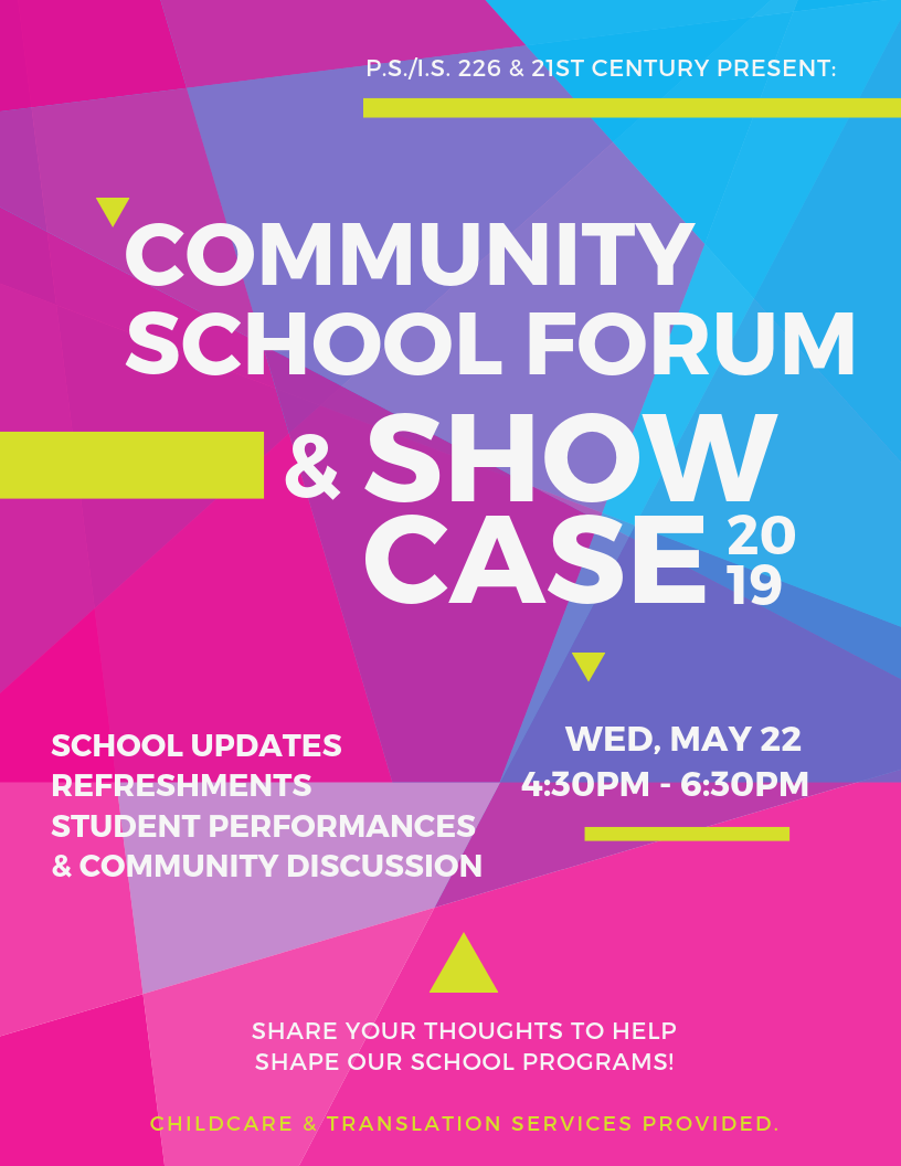 Community School Forum & Showcase poster