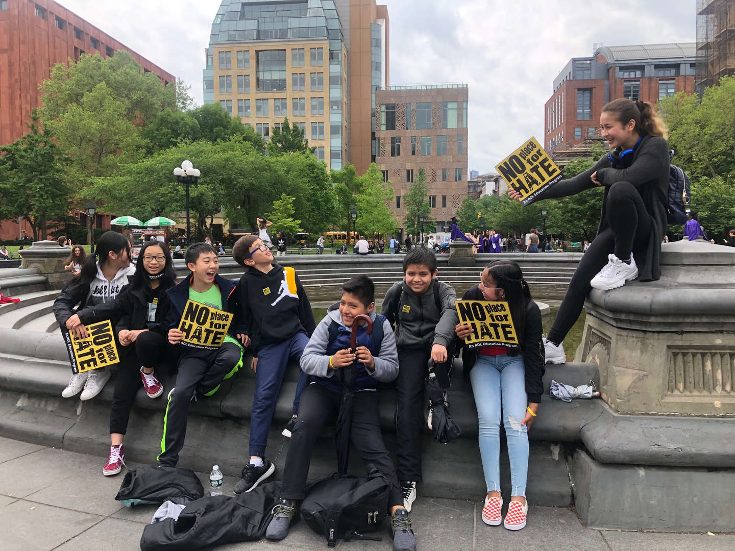 Members of the No Place for Hate on a trip to NYC.