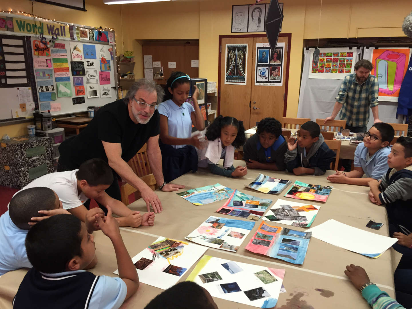 Studio in a School Visiting Artist Clifford Ross works with our 5th Grade.